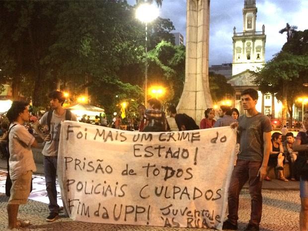 Secretário de Segurança é um dos alvos de manifestantes (Foto: Marcelo Elizardo/G1)