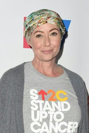 Shannen Doherty em evento beneficente em Los Angeles, nos Estados Unidos (Foto: Valerie Macon/ AFP)