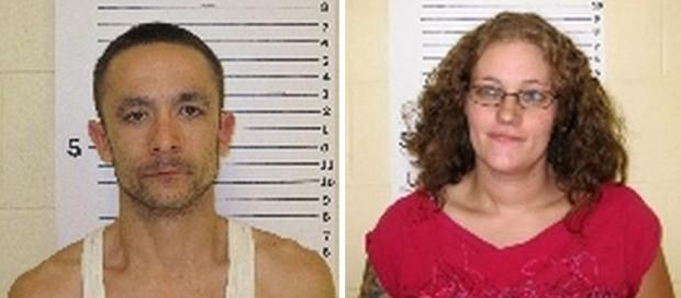 Dylan Aufdengarten brigou com Jennifer Harmon durante a fuga, e acabou delatado pela namorada (Foto: Divulgação/Lincoln County Detention Center)