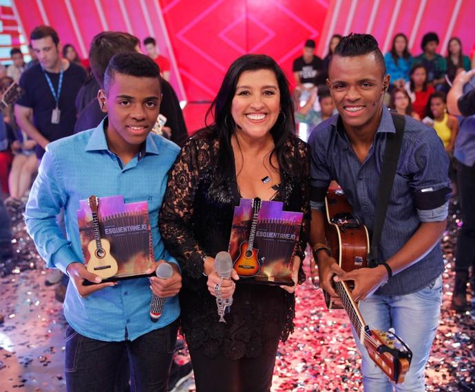 Augusto e Ariel vencem o 'Esquentanejo' (Foto: João Pedro Januário/TV Globo)