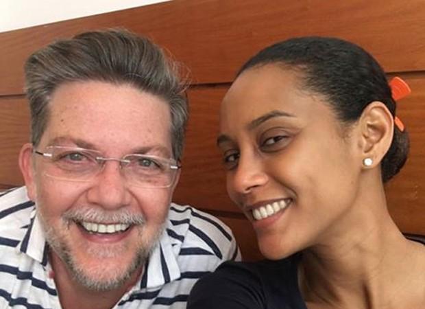 Kiko Mascarenhas e Taís Araújo (Foto: Reprodução/Facebook)