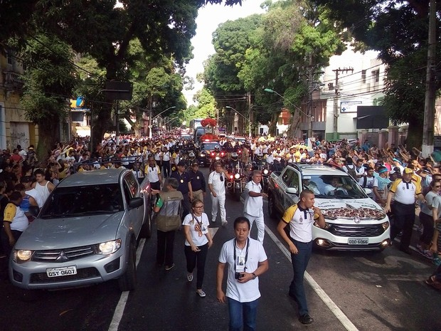 traslado para ananindeua círio 2016 belém (Foto: Antenor dos Santos/ TV Liberal)