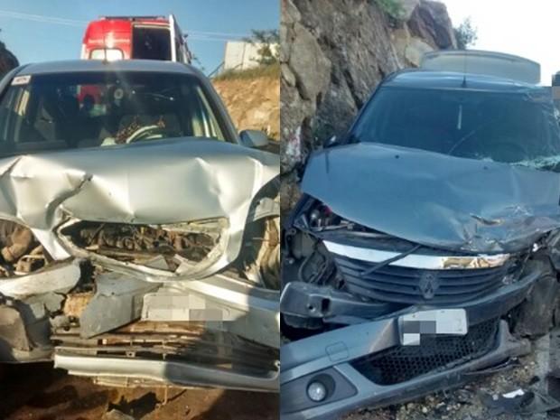 Nove pessoas ficaram feridas em acidente na BR-424 (Foto: Divulgação/PRF)