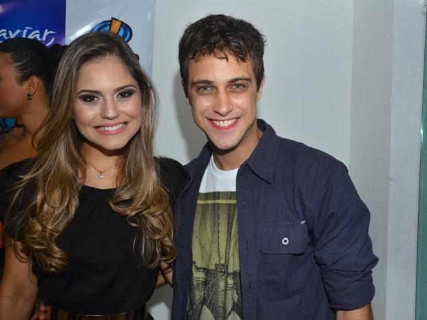 Jessika Alves e Ronny Kriwat em evento em Fortaleza (Foto: Denilson Silva/ Ag. News)
