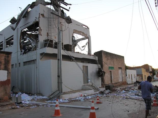 Agência do Banco do Brasil, em Taguatinga destruída após assalto (Foto: Sandra Fotógrafa/Divulgação)