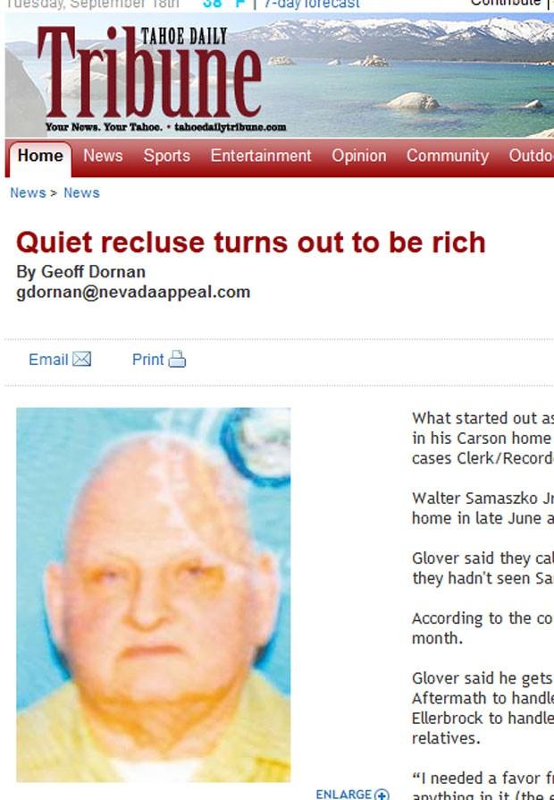 Homem de 69 anos guardava fortuna em casa. (Foto: Reprodução)