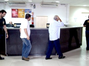 Suspeitos de matar ambientalista da sede da PF em São Luís (MA) (Foto: Reprodução/TV Mirante)