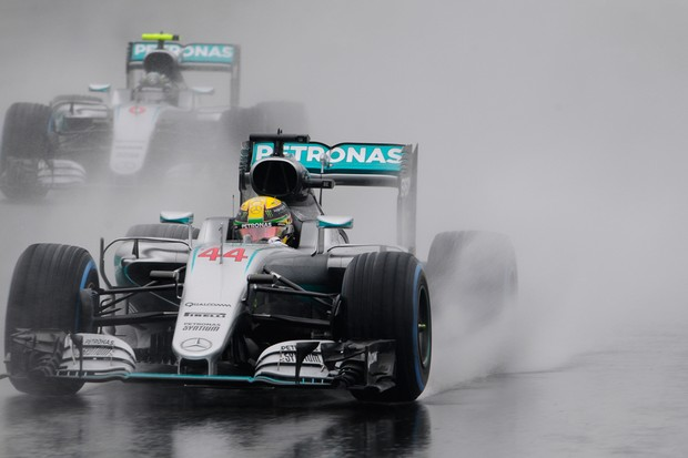 Hamilton e Rosberg no GP do Brasil (Foto: Ivan Carneiro/Autoesporte)