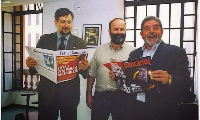Ricardo Berzoini, João Vaccari Neto e Luiz Inácio Lula da Silva, os bons companheiros (Foto: Divulgação)
