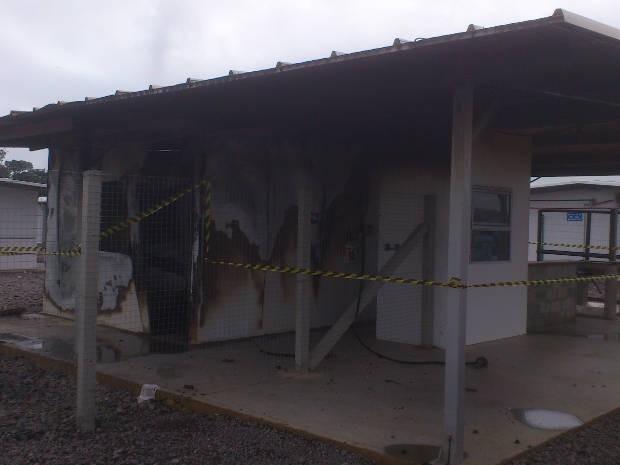 Polícia investiga quem são os responsáveis pela destruição no canteiro (Foto: Glaydson Castro/TV Liberal)
