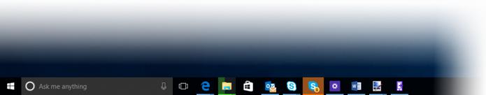 Apps na barra de tarefas da Buid 10158 piscam quando requerem ação do usuário (Foto: Divulgação)