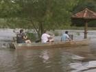 Rio Mogi sobe e 200 casas de bairro ficam inundadas em Porto Ferreira, SP