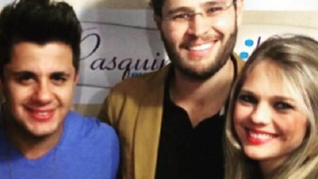 Cristiano Araújo, Pedro Leonardo e Thais Gabelein eram amigos desde pequenos (Foto: reprodução EPTV)
