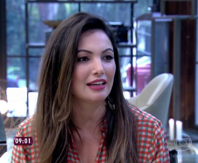 Patrícia Poeta foi convidada do Mais Você (Foto: Reprodução/RBS TV)