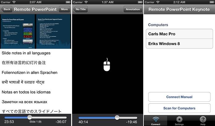 Remote Control for PowerPoint Keynote controla apps da Apple e da Microsoft (Foto: Divulgação/App Store)