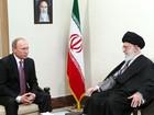 Líder do Irã recebe Putin e diz que políticas dos EUA são ameaça
