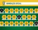 CBF divulga a numeração das camisas para jogos contra Bolívia e Venezuela