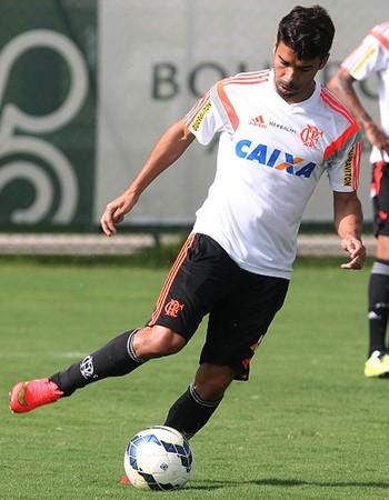 Eduardo da Silva Treino Flamengo Atibaia (Foto: Gilvan de Souza / Flamengo)