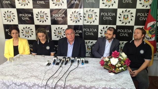 Chefia de Polícia Civil no caso Bernardo  (Foto: Fabio Almeida/RBS TV)
