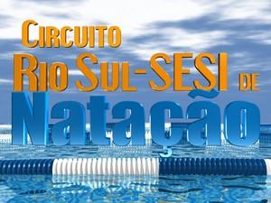 Logo oficial do Circuito Rio Sul-Sesi de Natação (Foto: Arte/TV Rio Sul)