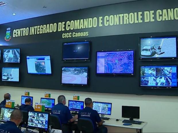 Órgãos de segurança de Canoas no RS se únem para combater a violência (Foto: Reprodução/RBS TV)