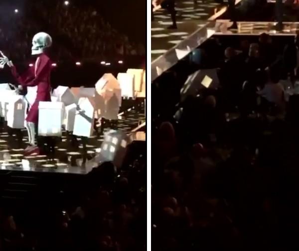 A queda do dançarino de Katy Perry (Foto: Twitter)