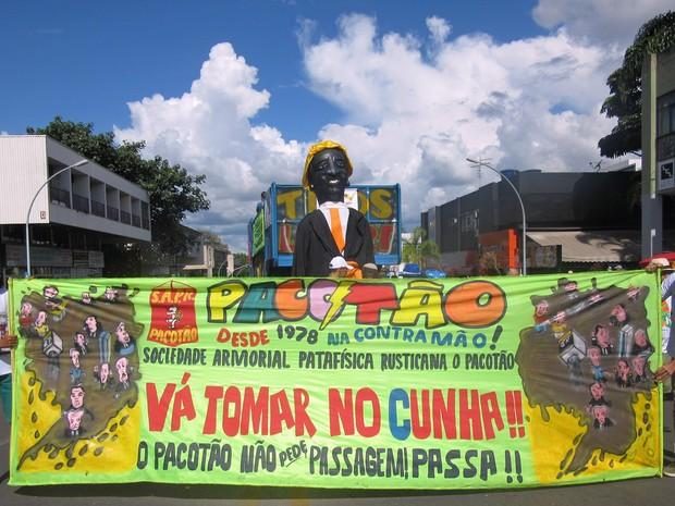 Bloco pacotão desfila pela 2ª vez neste ano no Carnaval do Distrito  Federal (Foto: Jéssica Nascimento/G1)