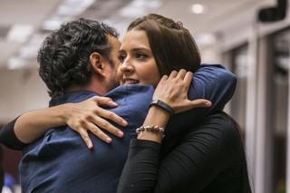Tamires e Adrilles (Foto: Paulo Belote / Globo)