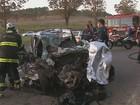Acidente entre carro e caminhão deixa 2 homens mortos em São Carlos, SP