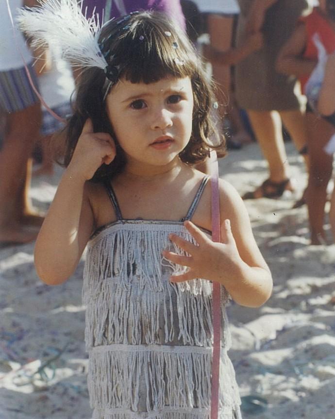 Linda, Olívia já pulou o carnaval vestida de melindrosa (Foto: Arquivo pessoal)