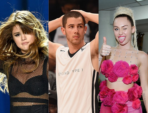 Selena Gomez, Nick Jonas, Miley Cyrus (Foto: Getty Images)