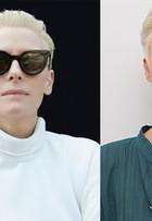 Modelo platina os cabelos e é comparada com a atriz Tilda Swinton