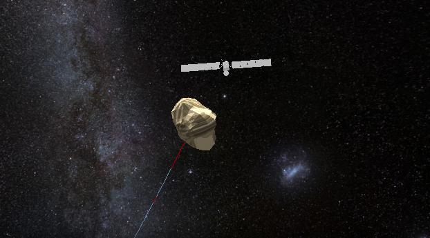 Sonda e cometa finalmente se encontram (Foto: Reprodução/ESA)