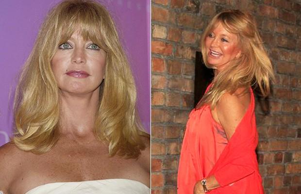 Goldie Hawn - Antes e Depois (Foto: Agência Grosby Group - Gabriel Reis e Delson Silva / Agnews)