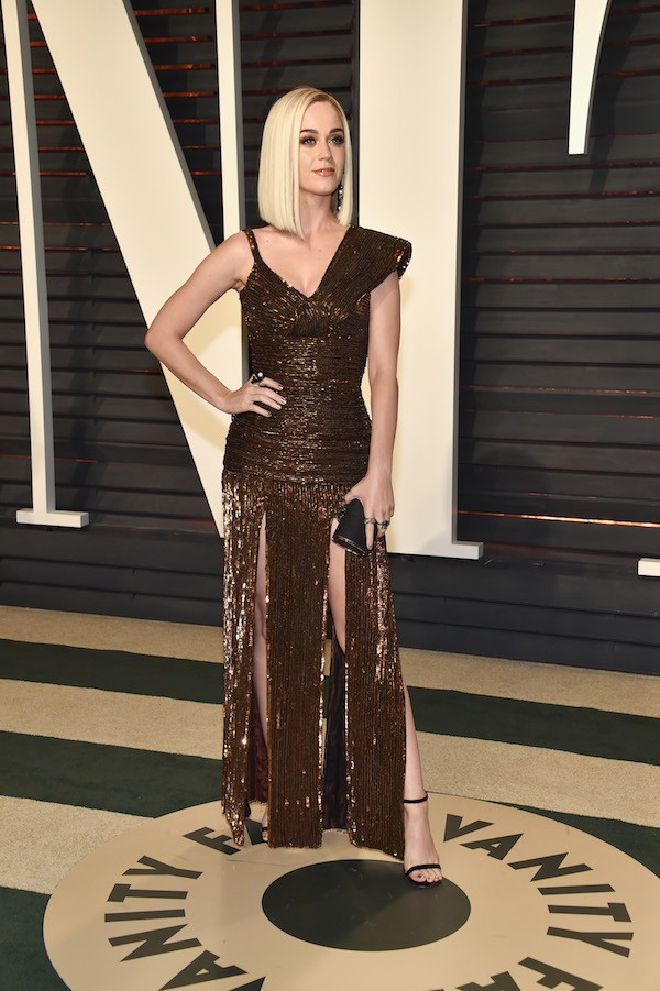 A cantora Katy Perry na festa da revista Vanity Fair (Foto: Getty Images)