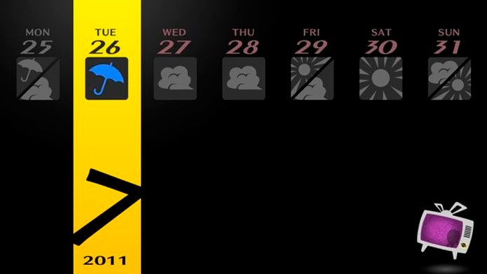 Acompanhe a previsão do tempo durante o game (Foto: Divulgação)
