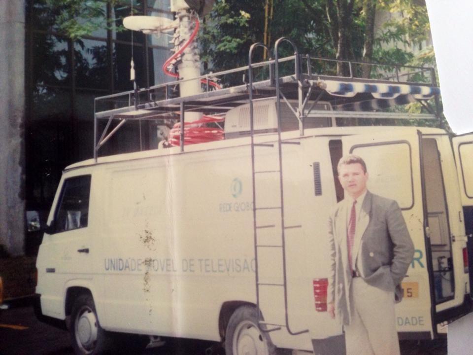 Weligton  Alves foi o primeiro repórter da TV Grande Rio e também trabalhou como apresentador do Bom Dia, Petrolina. (Foto: Arquivo Pessoal)
