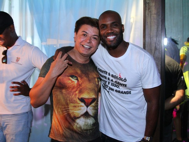 David Brazil e Rafael Zulu em festa na Zona Oeste do Rio (Foto: Anderson Borde/ Ag. News)