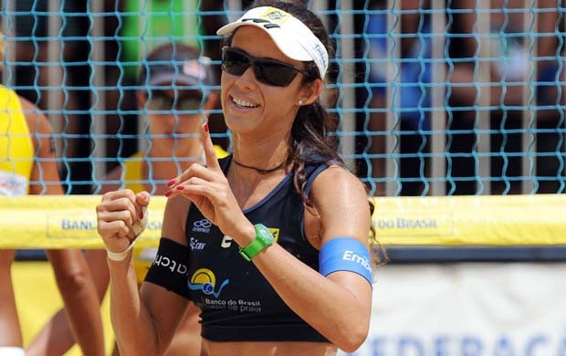 Talita, jogadora de vôlei de praia (Foto: Mauricio Kaye/CBV)