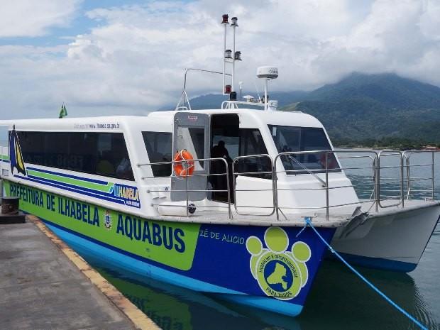 Ilhabela faz testes com embarcação para transporte público marítimo  (Foto: Ronald Kraag/Prefeitura de Ilhabela)