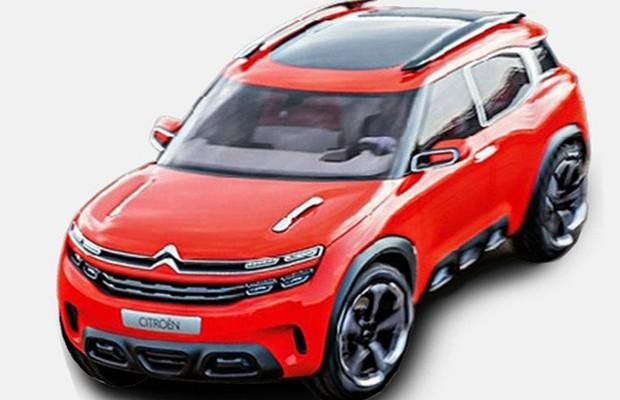Conceito do Citroën Aircross renovado surge na internet (Foto: Reprodução)