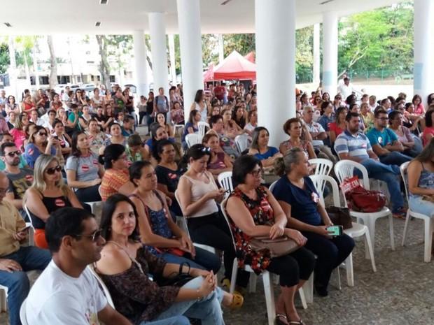 Em assembleia, servidores da Saúde decidem manter greve em Goiás (Foto: Divulgação/Sindsaúde)