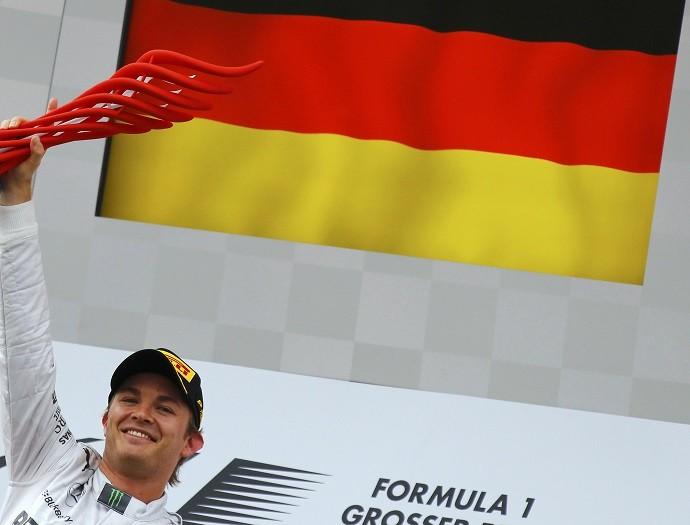 Nico Rosberg pódio GP da Alemanha (Foto: Getty Images)