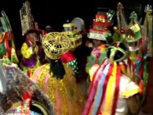 Guerreiro é folclore tipicamente alagoano  (Foto: Reprodução/TV Gazeta)