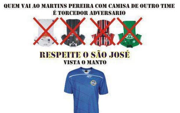 aed92cc91e Torcida faz campanha contra os grandes no estádio (Foto  Reprodução  ...