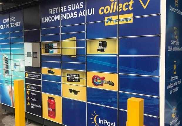Via varejo passou a utilizar lockers para que os clientes retirem os produtos comprados online (Foto: Divulgação)