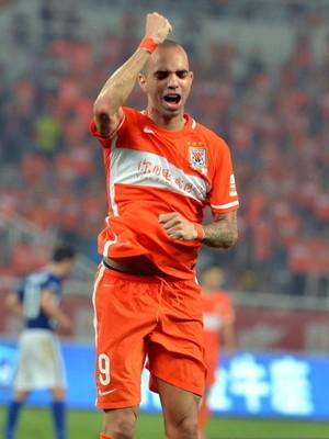 Diego Tardelli Shandong Luneng (Foto: Sina.com)