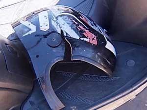 Motociclista morreu na hora (Foto: Reprodução/TV Integração)