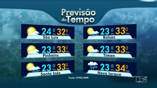 Veja a previsão do tempo deste sábado (27) em São Luís