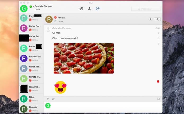 O ICQ permite compartilhar arquivos de todos os tamanhos e formatos (Foto: Reprodução/Gabriella Fiszman)